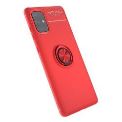 Funda Magnetica Soporte con Anillo Giratorio 360 para Samsung Galaxy A71 Roja