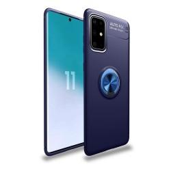 Funda Magnetica Soporte con Anillo Giratorio 360 para Samsung Galaxy S20 Azul