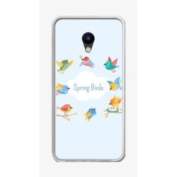 """Funda Gel Tpu para Meizu M5 5.2"""" Diseño Spring Birds Dibujos"""