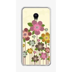 "Funda Gel Tpu para Meizu M5 5.2"" Diseño Primavera En Flor Dibujos"