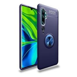Funda Magnetica Soporte con Anillo Giratorio 360 para Xiaomi Mi Note 10 Azul