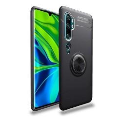 Funda Magnetica Soporte con Anillo Giratorio 360 para Xiaomi Mi Note 10 Negra