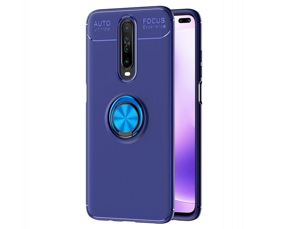 Funda Magnetica Soporte con Anillo Giratorio 360 para Xiaomi Pocophone POCO X2 Azul
