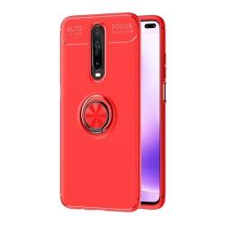 Funda Magnetica Soporte con Anillo Giratorio 360 para Xiaomi Pocophone POCO X2 Roja