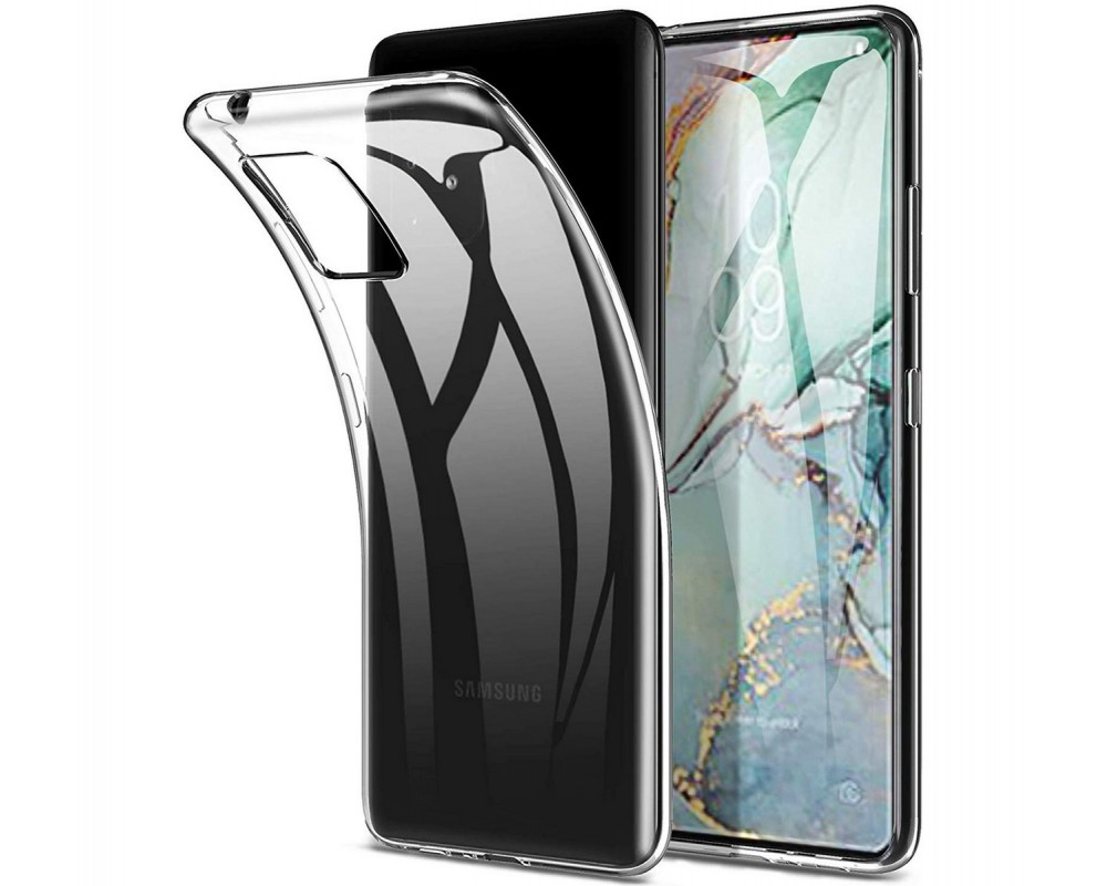 Funda Gel Tpu Fina Ultra-Thin 0,5mm Transparente para Samsung Galaxy S10 Lite