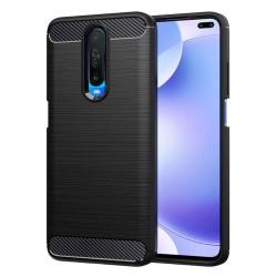 Funda Gel Tpu Tipo Carbon Negra para Xiaomi Pocophone POCO X2