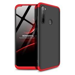 Funda Carcasa GKK 360 para Xiaomi Redmi Note 8T Color Negra / Roja