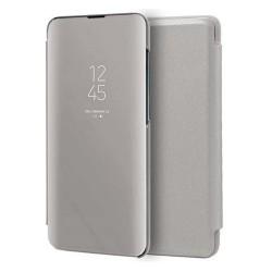 Funda Flip Cover Clear View para Samsung Galaxy A71 color Plata