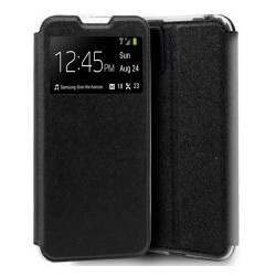 Funda Libro Soporte con Ventana para Samsung Galaxy A51 Color Negra