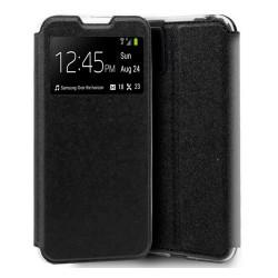 Funda Libro Soporte con Ventana para Xiaomi Mi Note 10 Color Negra
