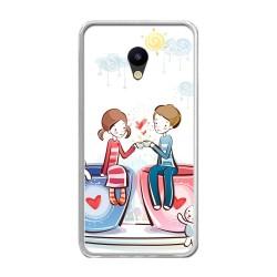 Funda Gel Tpu para Meizu M5 Note Diseño Cafe Dibujos