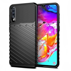 Funda Gel Flexible Thunder Armor Rugged para Samsung Galaxy A70 color Negra