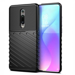 Funda Gel Flexible Thunder Armor Rugged para Xiaomi Mi 9T / Mi 9T Pro color Negra