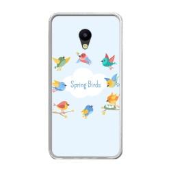 Funda Gel Tpu para Meizu M5 Note Diseño Spring Birds Dibujos