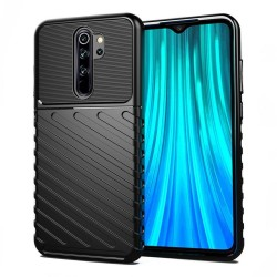 Funda Gel Flexible Thunder Armor Rugged para Xiaomi Redmi Note 8 Pro color Negra