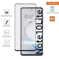 Protector Cristal Templado Completo 5D Full Glue Negro para Samsung Galaxy Note 10 Lite Vidrio
