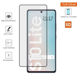 Protector Cristal Templado Completo 5D Full Glue Negro para Samsung Galaxy S10 Lite Vidrio