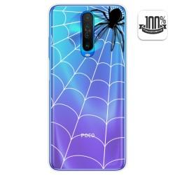 Funda Gel Transparente para Xiaomi Pocophone POCO X2 diseño Araña Dibujos