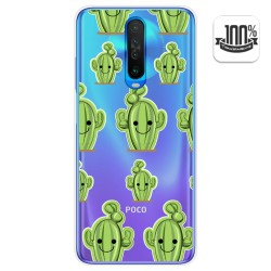 Funda Gel Transparente para Xiaomi Pocophone POCO X2 diseño Cactus Dibujos
