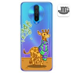 Funda Gel Transparente para Xiaomi Pocophone POCO X2 diseño Jirafa Dibujos