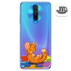 Funda Gel Transparente para Xiaomi Pocophone POCO X2 diseño Leopardo Dibujos