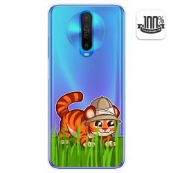 Funda Gel Transparente para Xiaomi Pocophone POCO X2 diseño Tigre Dibujos