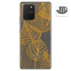 Funda Gel Transparente para Samsung Galaxy S10 Lite diseño Hojas Dibujos