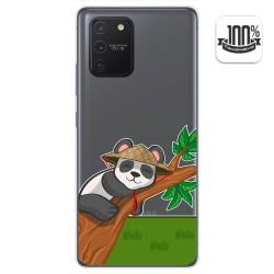 Funda Gel Transparente para Samsung Galaxy S10 Lite diseño Panda Dibujos