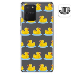 Funda Gel Transparente para Samsung Galaxy S10 Lite diseño Pato Dibujos