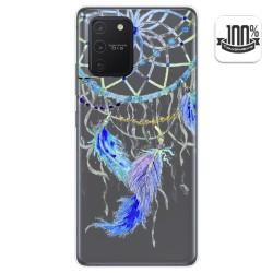Funda Gel Transparente para Samsung Galaxy S10 Lite diseño Plumas Dibujos