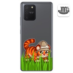 Funda Gel Transparente para Samsung Galaxy S10 Lite diseño Tigre Dibujos