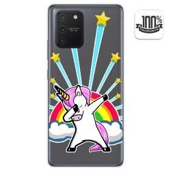 Funda Gel Transparente para Samsung Galaxy S10 Lite diseño Unicornio Dibujos