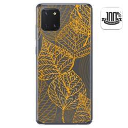 Funda Gel Transparente para Samsung Galaxy Note 10 Lite diseño Hojas Dibujos