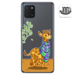 Funda Gel Transparente para Samsung Galaxy Note 10 Lite diseño Jirafa Dibujos