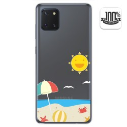 Funda Gel Transparente para Samsung Galaxy Note 10 Lite diseño Playa Dibujos
