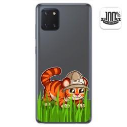 Funda Gel Transparente para Samsung Galaxy Note 10 Lite diseño Tigre Dibujos