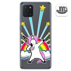 Funda Gel Transparente para Samsung Galaxy Note 10 Lite diseño Unicornio Dibujos