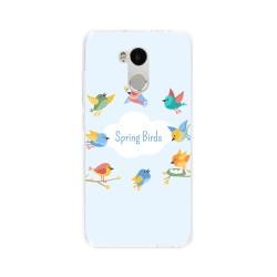 Funda Gel Tpu para Xiaomi Redmi 4 Pro Diseño Spring Birds Dibujos