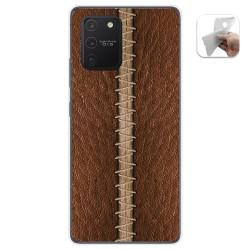 Funda Gel Tpu para Samsung Galaxy S10 Lite diseño Cuero 01 Dibujos