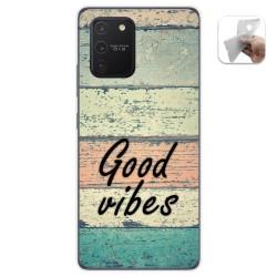 Funda Gel Tpu para Samsung Galaxy S10 Lite diseño Madera 01 Dibujos