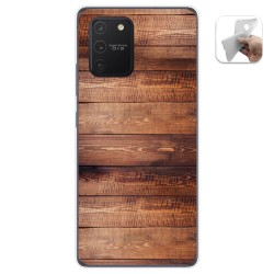 Funda Gel Tpu para Samsung Galaxy S10 Lite diseño Madera 02 Dibujos