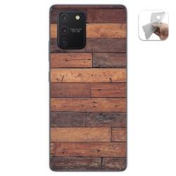 Funda Gel Tpu para Samsung Galaxy S10 Lite diseño Madera 03 Dibujos