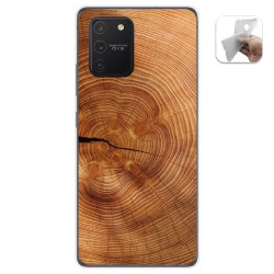 Funda Gel Tpu para Samsung Galaxy S10 Lite diseño Madera 04 Dibujos
