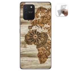 Funda Gel Tpu para Samsung Galaxy S10 Lite diseño Madera 07 Dibujos