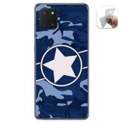 Funda Gel Tpu para Samsung Galaxy Note 10 Lite diseño Camuflaje 03 Dibujos