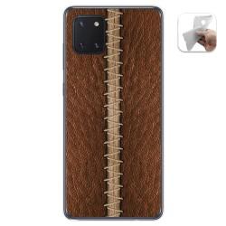 Funda Gel Tpu para Samsung Galaxy Note 10 Lite diseño Cuero 01 Dibujos