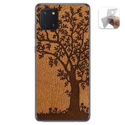 Funda Gel Tpu para Samsung Galaxy Note 10 Lite diseño Cuero 03 Dibujos
