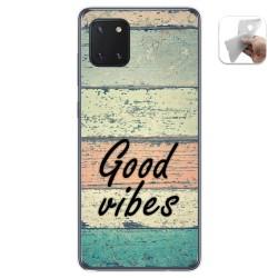 Funda Gel Tpu para Samsung Galaxy Note 10 Lite diseño Madera 01 Dibujos