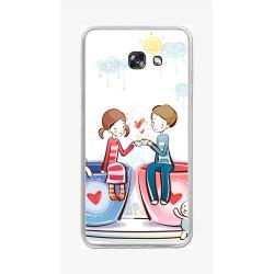 Funda Gel Tpu para Samsung Galaxy A5 (2017) Diseño Cafe Dibujos