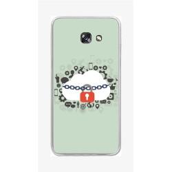 Funda Gel Tpu para Samsung Galaxy A5 (2017) Diseño Nube Dibujos